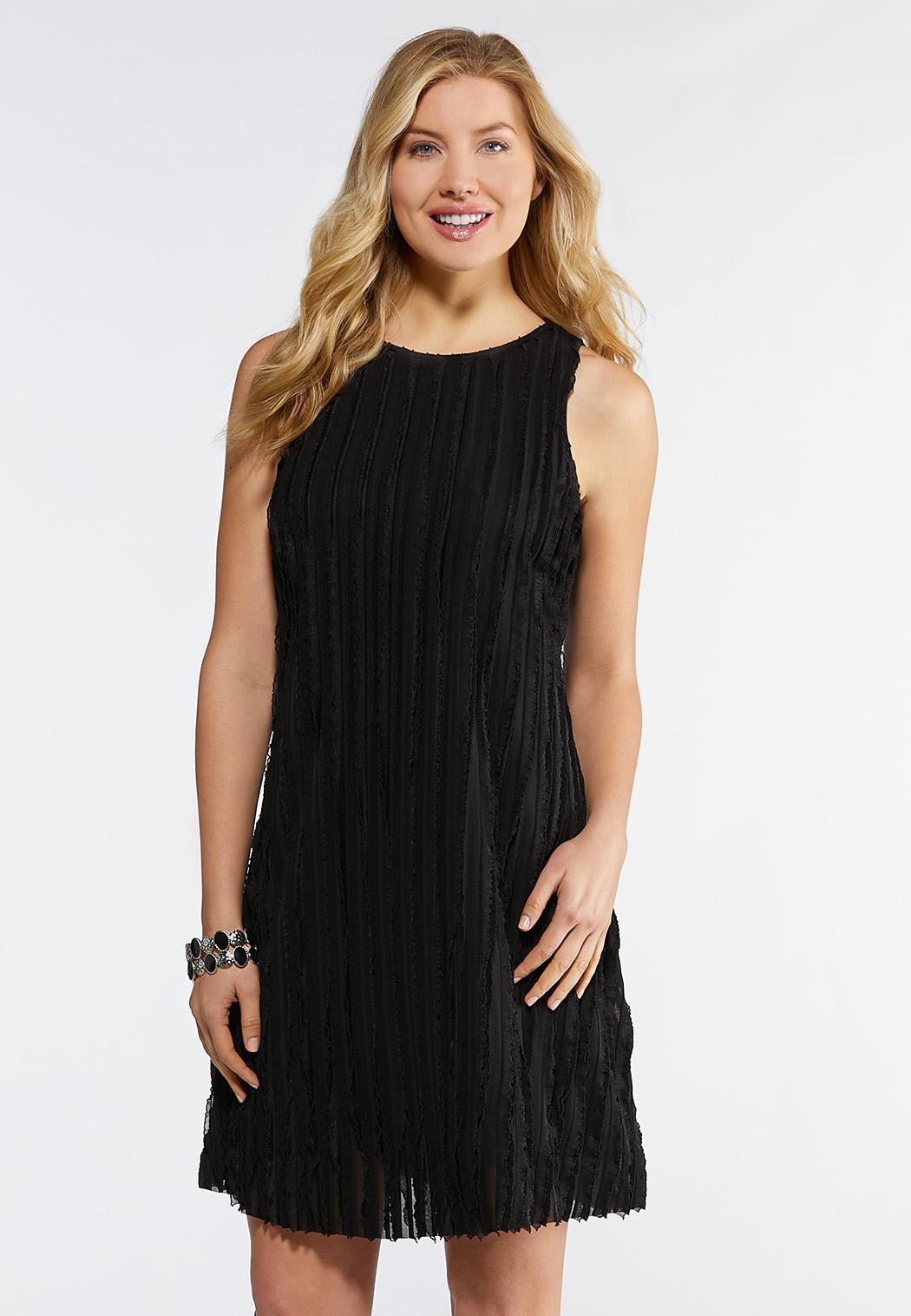 1eec24ec477 Plus Size Eyelash Ruffle Swing Dress A-line   Swing Cato Fashions