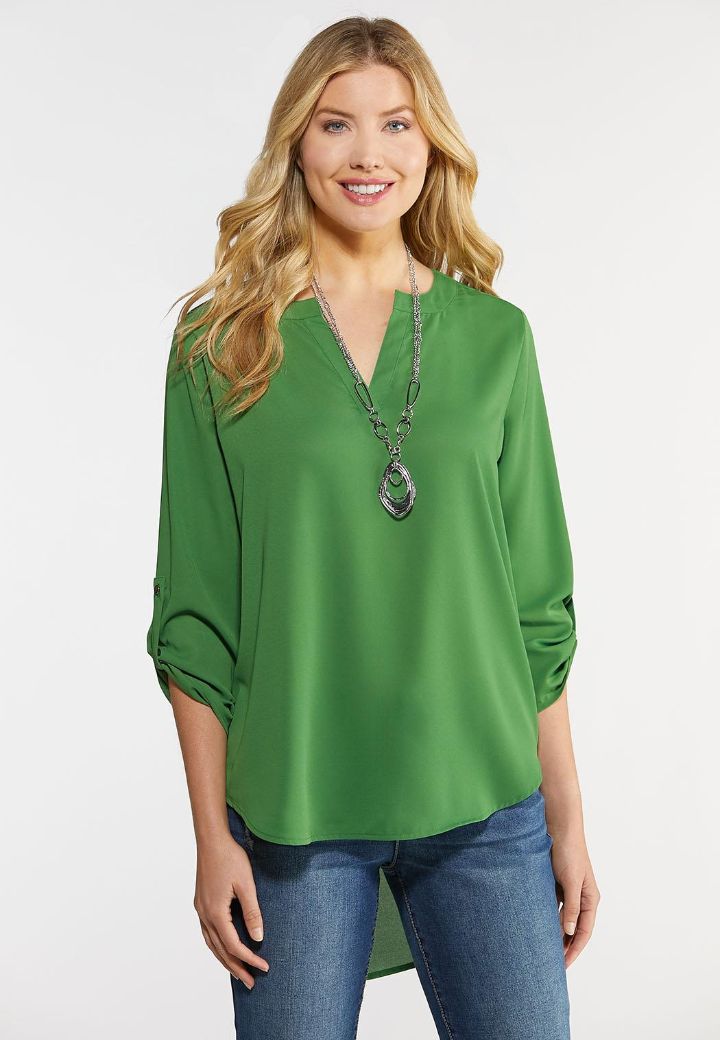 Plus Size Extreme High-Low Popover Top