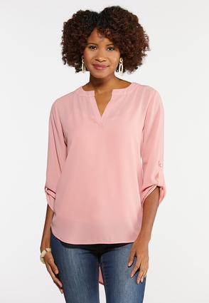 Plus Size Extreme High- Low Popover Top