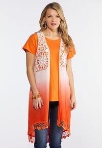 33b733304e9 Plus Size Crepe Ombre Vest