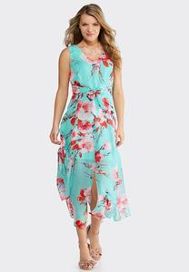c9bc68f0f8a Petite Turquoise Floral Maxi Dress