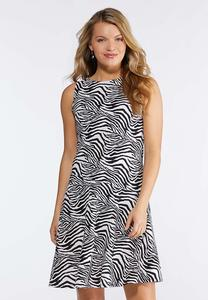 Zebra Fit And Flare Dress