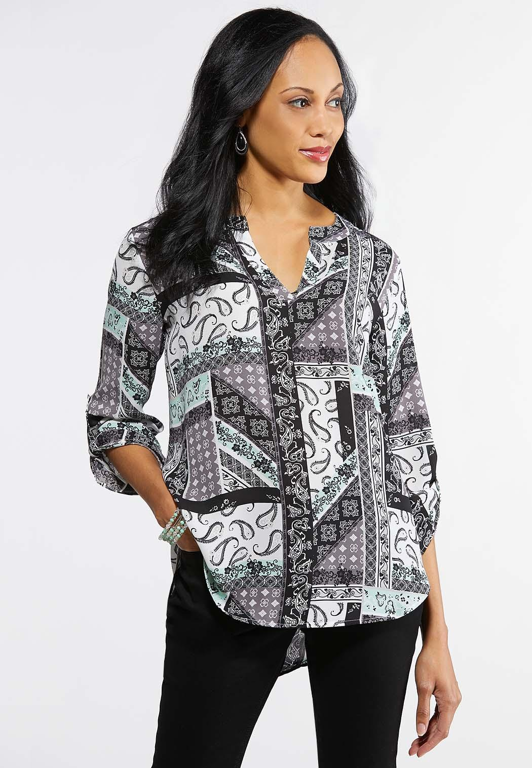 f4c50019860f4 Mint And Paisley Tunic alternate view Mint And Paisley Tunic