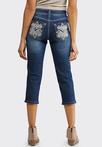 Cropped Sparkle Swirl Jeans