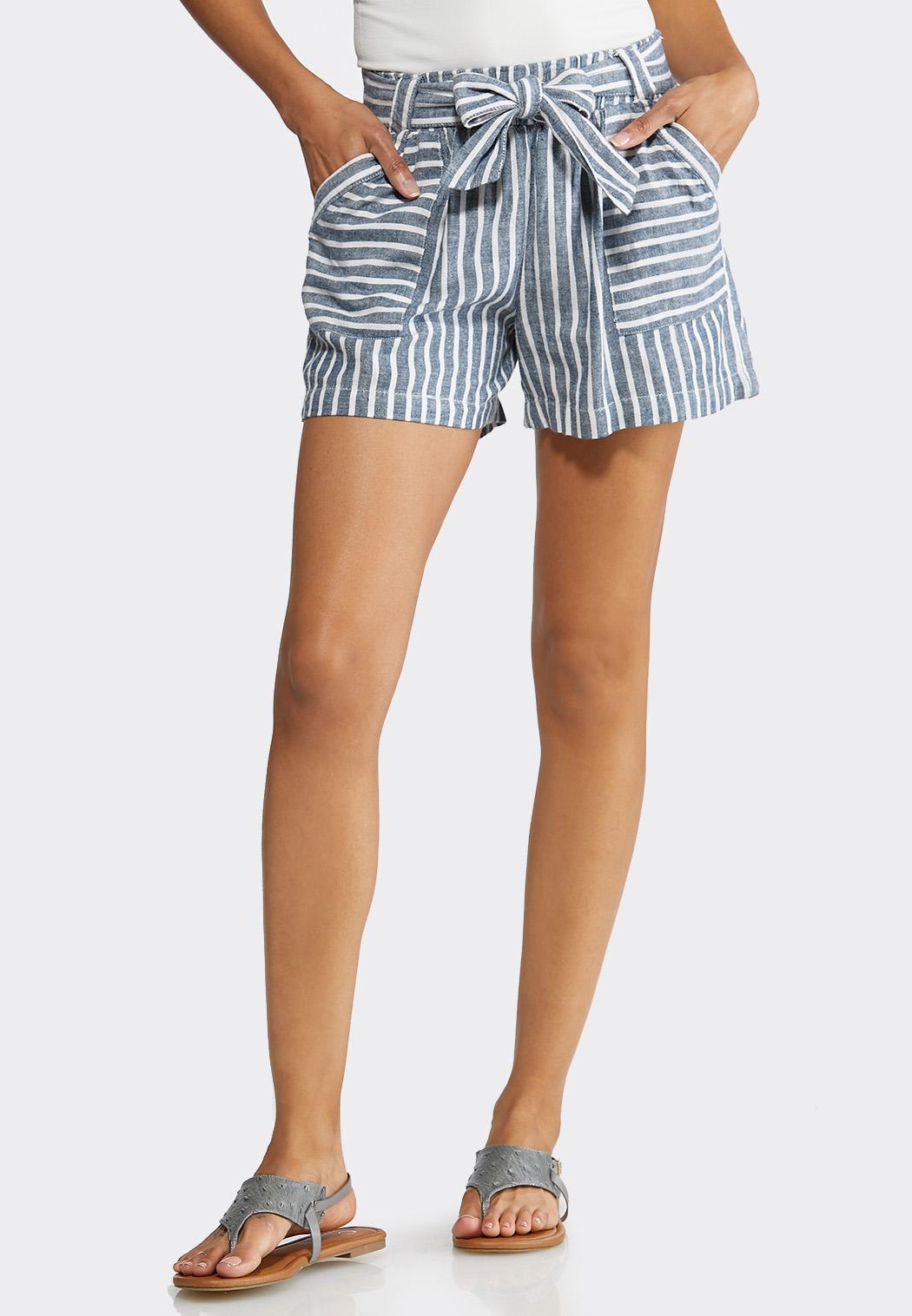 f75d7619f2d Nautical Stripe Linen Shorts alternate view · Nautical Stripe Linen Shorts