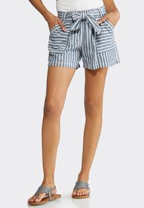 Nautical Stripe Linen Shorts
