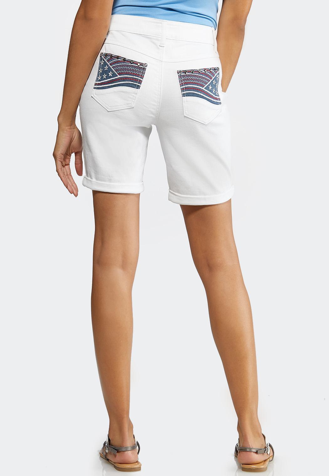 American Flag Pocket Short