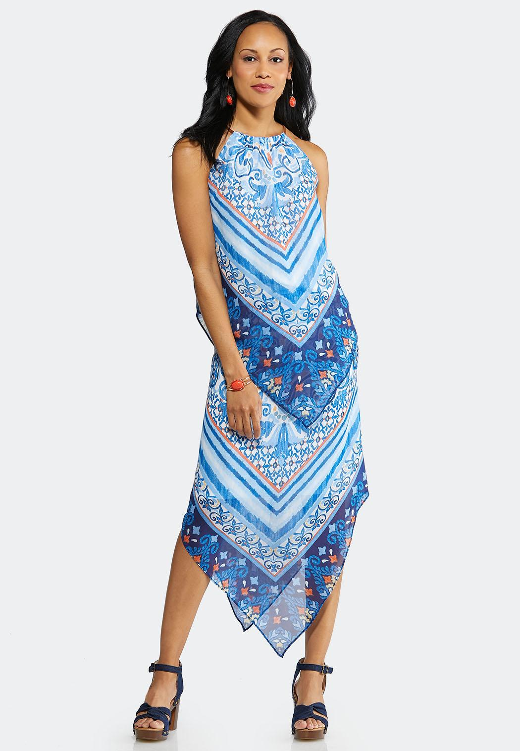 Plus Size Paisley Border Print Two-Piece Set