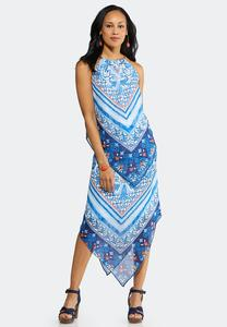 Plus Size Paisley Border Print Two- Piece Set