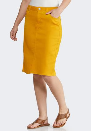 ed250a95c1 Colored Denim Skirt Skirts Cato Fashions