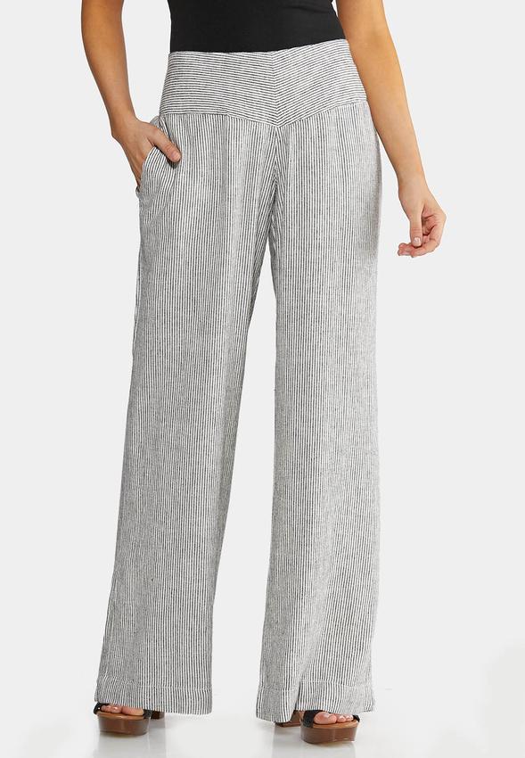 0f8b426105 Multi Stripe Linen Pants Pants Cato Fashions