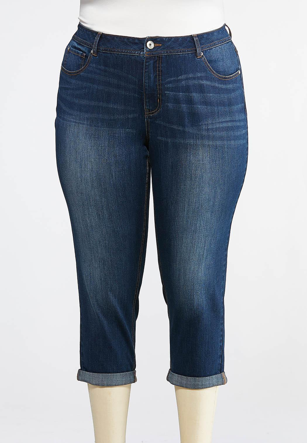Plus Size Cropped Shape Enhancing Skinny Jeans