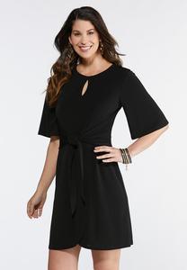 Black Tie Front Dress