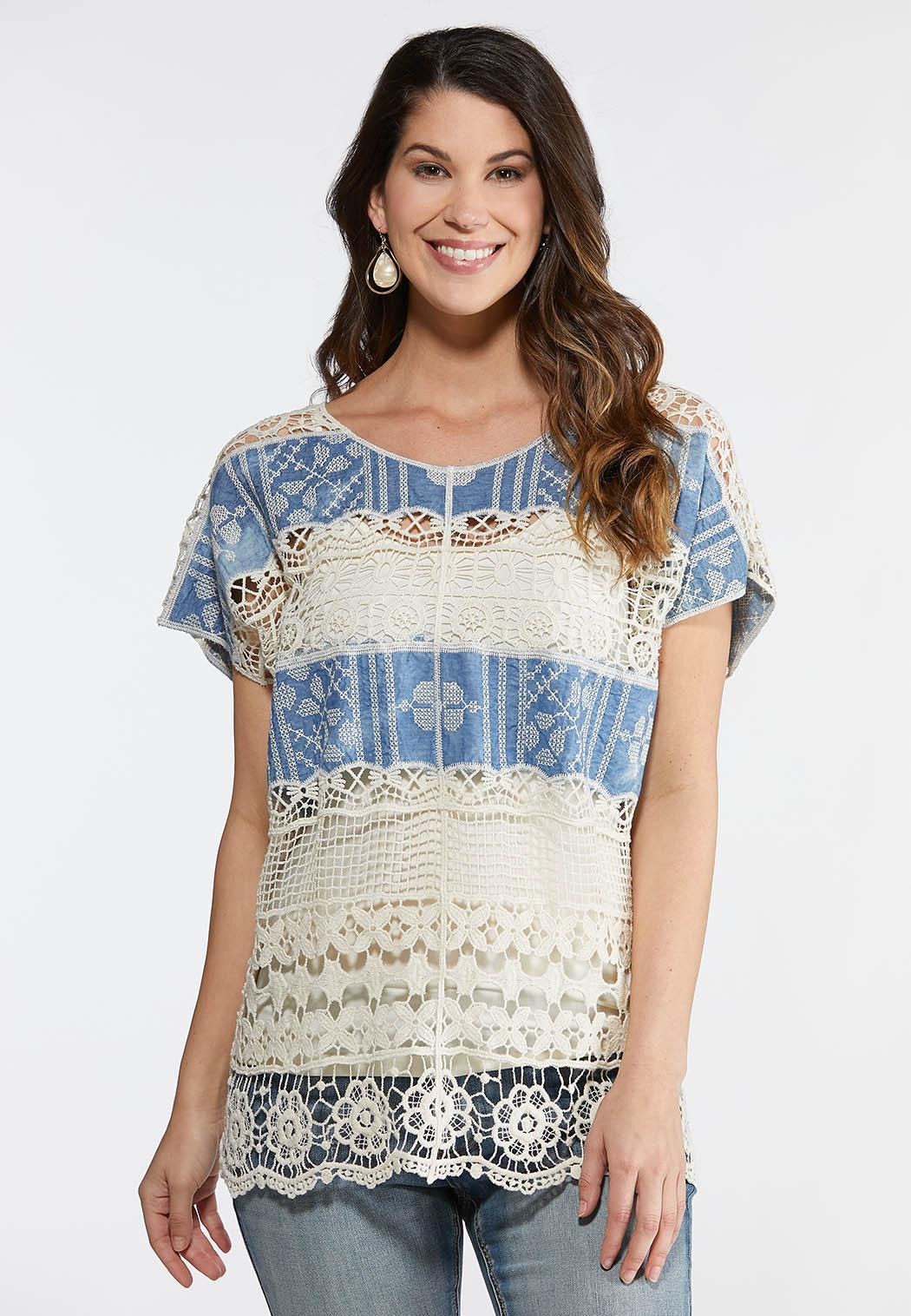 Mixed Crochet Top