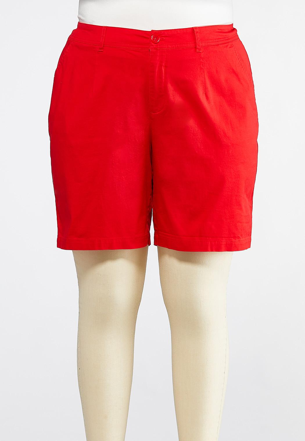 Plus Size Bermuda Chino Shorts