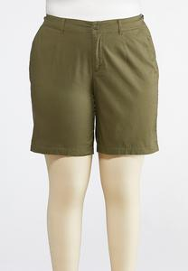 Plus Size Bermuda Chino Shorts