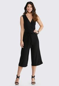 Cropped V-Neck Jumpsuit