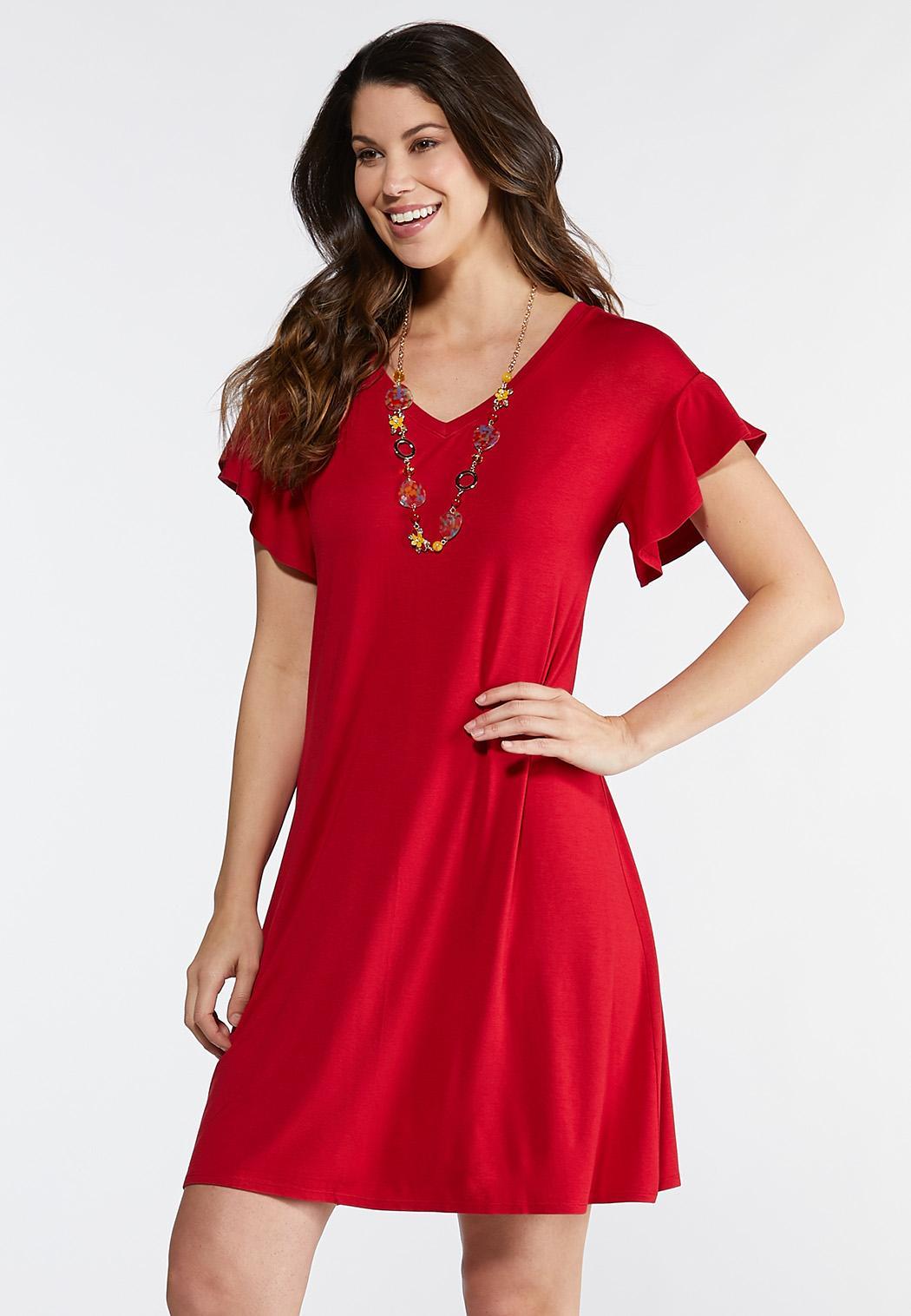 Plus Size Red T-Shirt Dress
