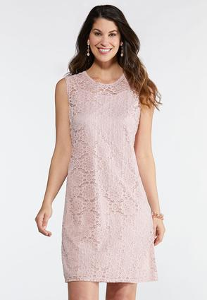 ba5d518a6462 Pink Floral Lace Dress Junior Misses Cato Fashions