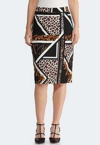 Status Animal Pencil Skirt