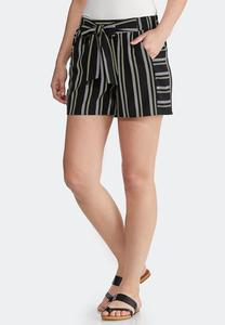 Contrast Stripe Woven Shorts