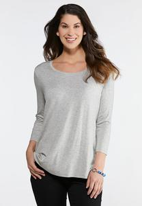 Solid Scoop Neck Tee