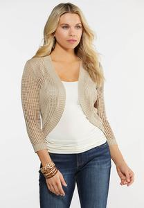 Plus Size Crochet Shrug