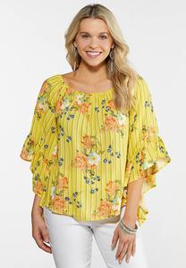 96eafc635e5 Plus Size Citrus Floral Stripe Poet Top