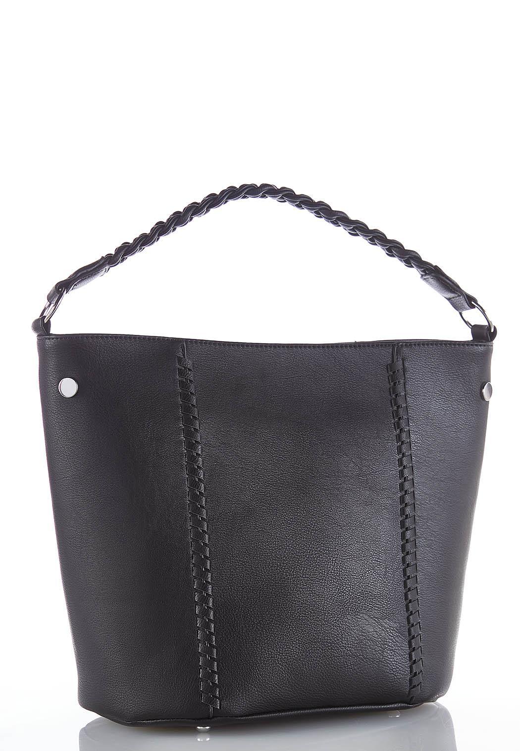 Braided Handle Hobo Bag
