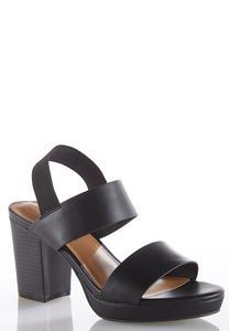 Elastic Ankle Strap Platform Sandals