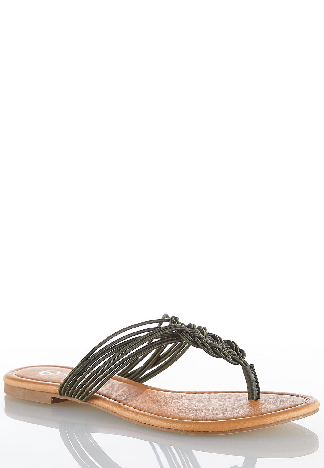 Braided Stretch Strap Sandals