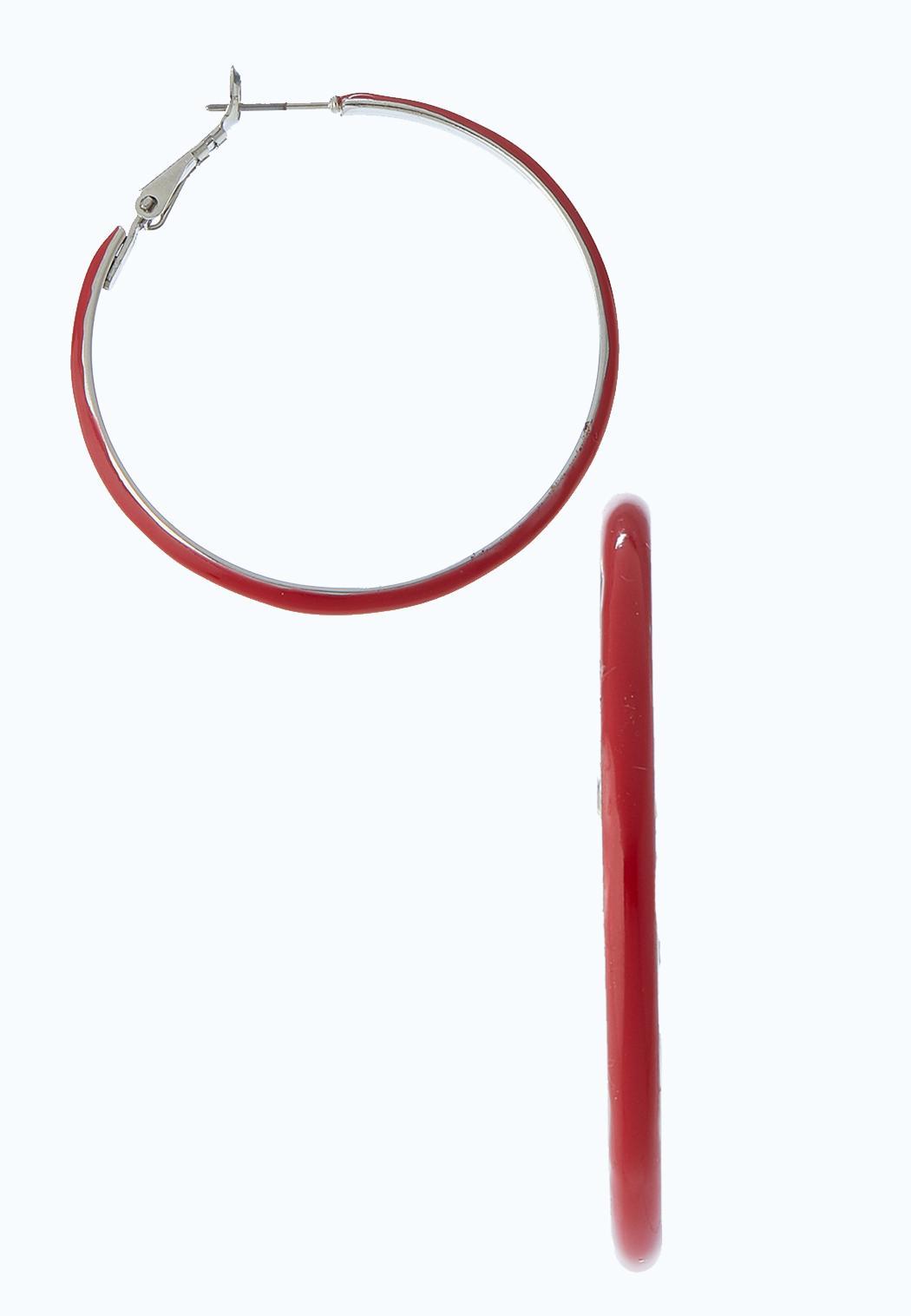 Color Metal Hoop Earrings