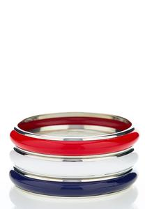 Three Piece Enamel Bangle Set