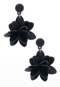 Faux Leather Flower Earrings