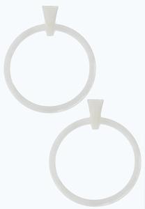 Large Colored Hoop Earrings