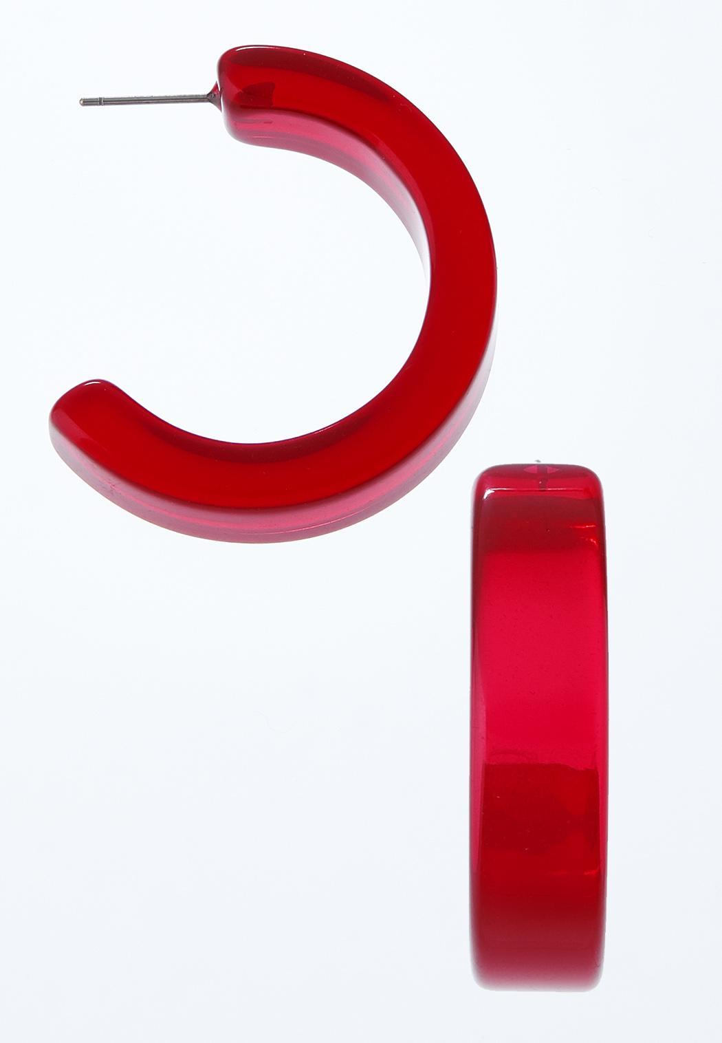 Lucite Open Hoop Earrings