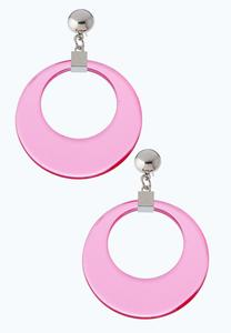 Lucite Hoop Dangle Earrings