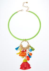 Tropical Charm Wire Pendant Necklace