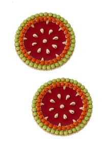 Watermelon Button Earrings