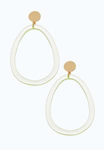 Lucite Hoop Post Back Earrings