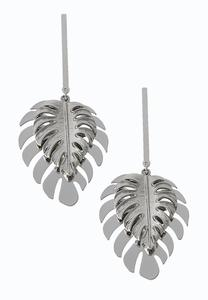 Metal Palm Leaf Earrings