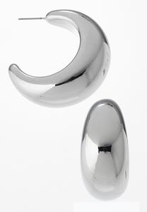 Open Back Wide Hoop Earrings
