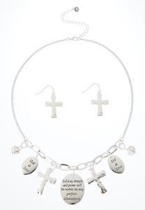 Inspirational Charm Necklace Set