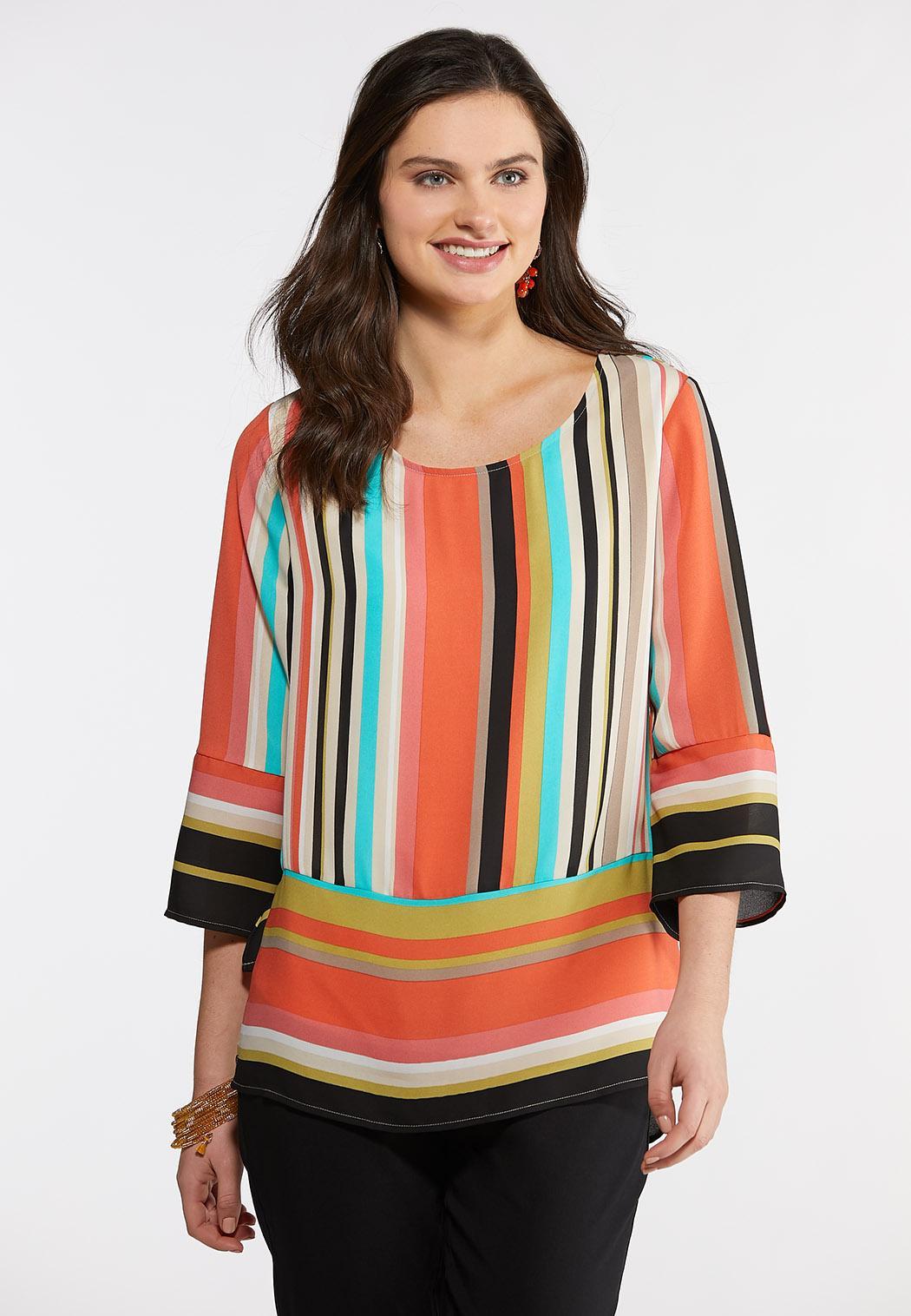 Colorful Stripe Pullover Top