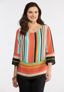 Colorful Stripe Pullover Top
