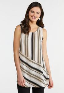 Neutral Mixed Stripe Tunic