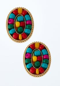 Multi Beaded Stud Earrings