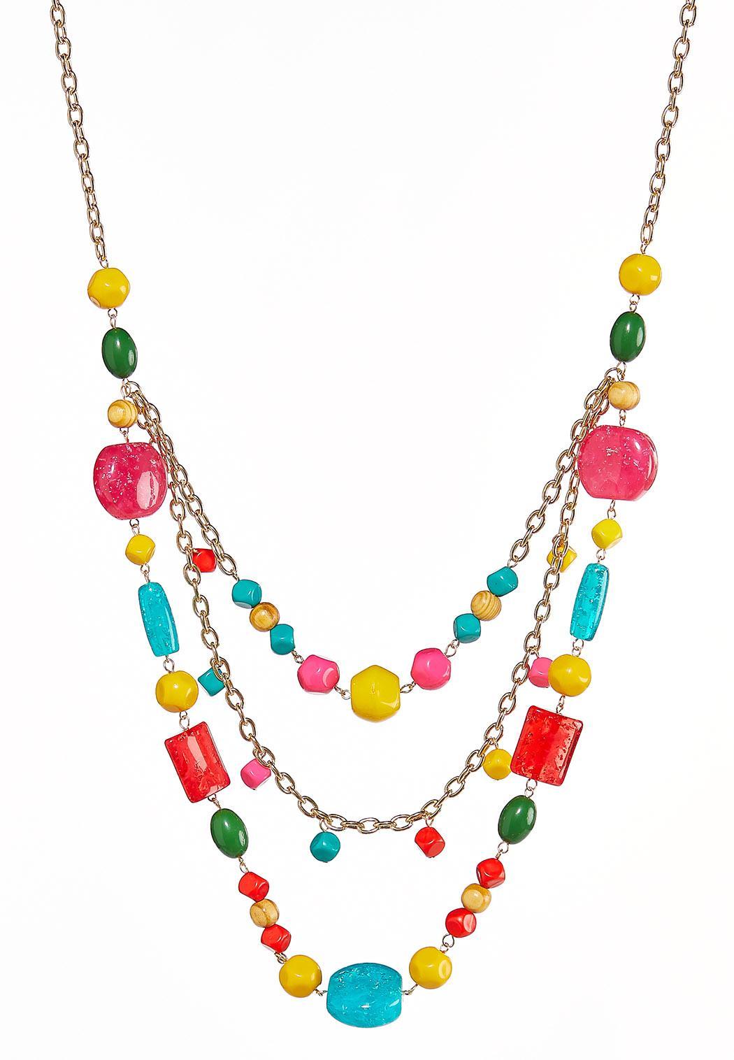 Layered Rainbow Necklace