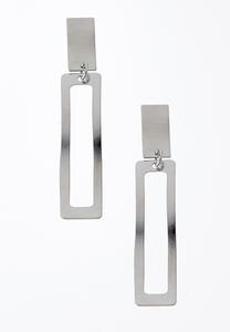 Cutout Rectangle Earrings