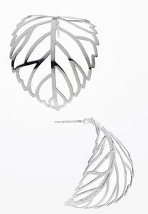 Cutout Leaf Curved Earrings